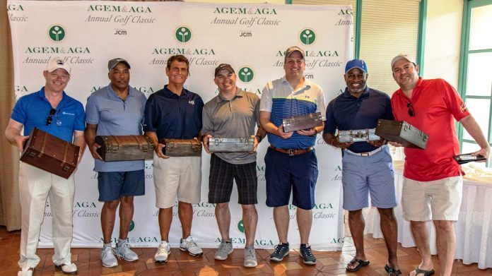 Some of the golf tournament participants.