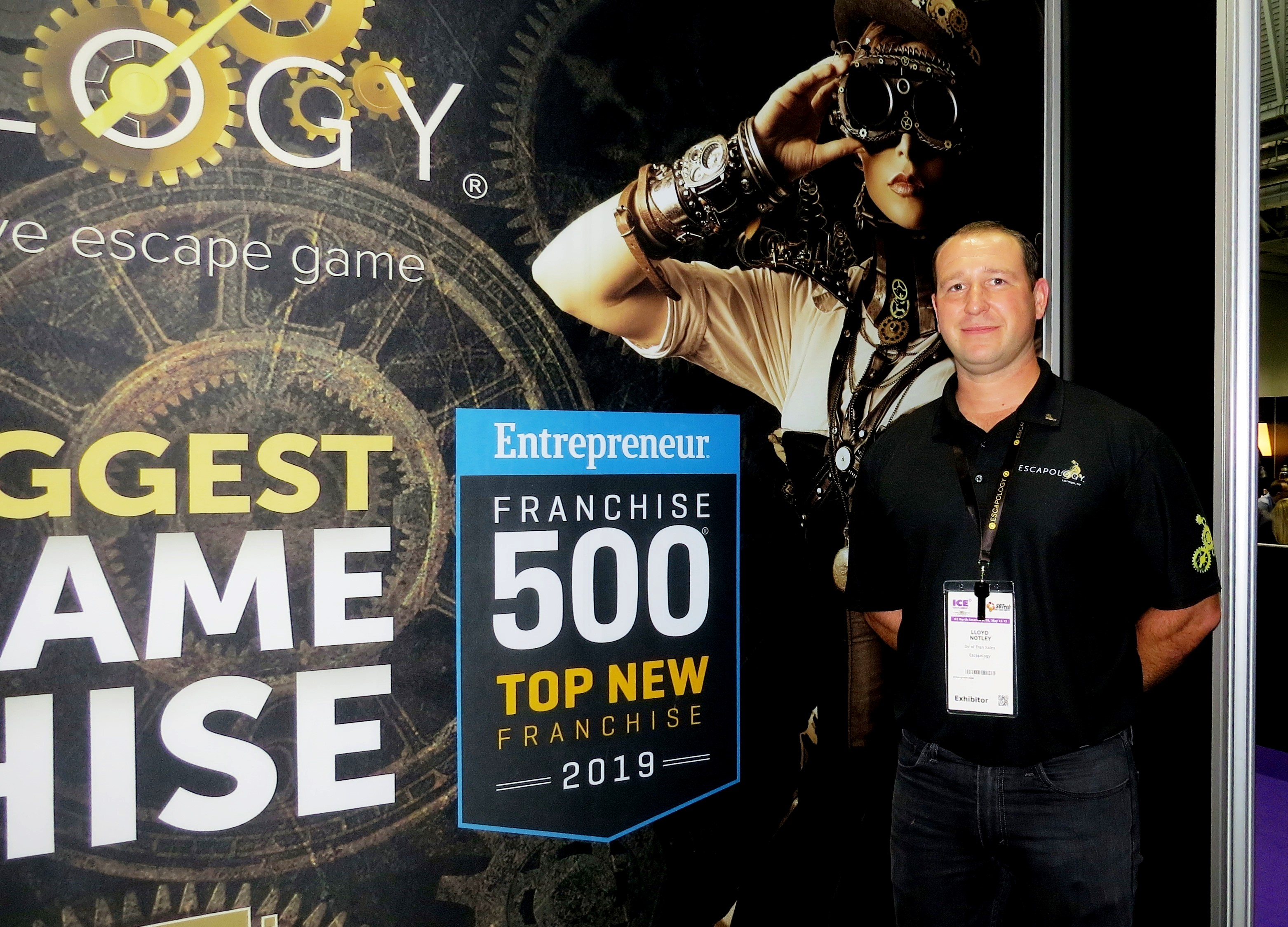 Lloyd Notley, Director of Franchise Sales at Escapology.